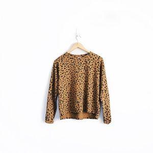 Zara Animal Print Long Sleeve T-Shirt